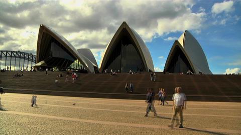 Sydney Opera House 01 Stock Video Footage