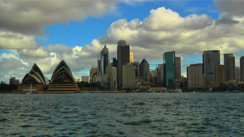 Sydney Opera House and CitySkyline 02 Footage