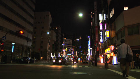Tokyo Street 24 At Night Stock Video Footage
