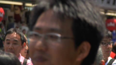 Tokyo Street People Walking CloseUp 02 Footage