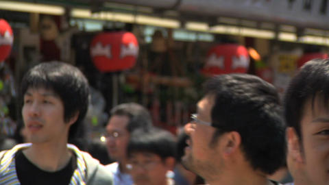 Tokyo Street People Walking CloseUp 02 Stock Video Footage
