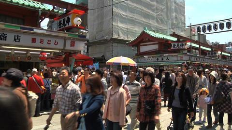 Tokyo Street People Walking Wide Stock Video Footage
