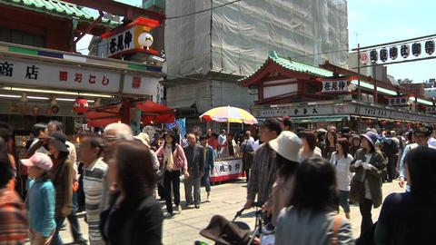 Tokyo Street People Walking Wide Footage