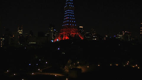 Tokyo Tower At Night 01 Footage