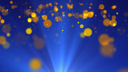 Yellow Particles Stock Video Footage