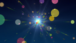 Multicolored Particles Animation