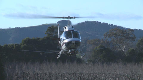 helicopter hovers Stock Video Footage