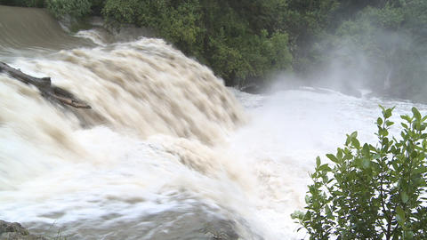 falls in flood Stock Video Footage