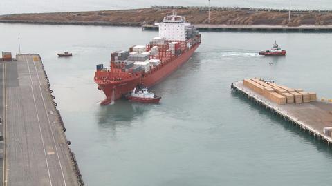 ship depart Stock Video Footage