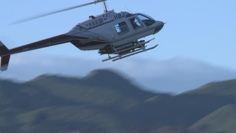 spray and swoop helicopter Stock Video Footage