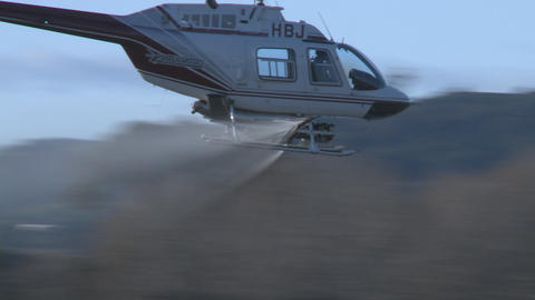 spray and swoop helicopter Footage