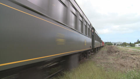 steam train in countryside Stock Video Footage