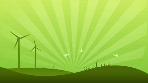 Green Power Background Stock Video Footage