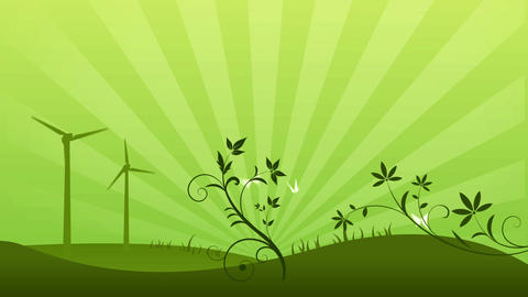 Green Power Background Animation