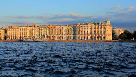 Winter Palace Stock Video Footage