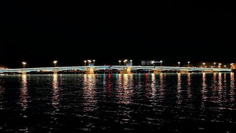 Blagoveshchensky Bridge Stock Video Footage