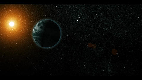 Earth and Moon Stock Video Footage