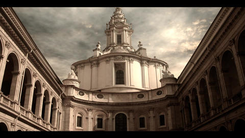 Roman architecture Stock Video Footage