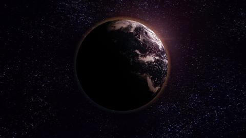 Zoom in to Earth Stock Video Footage