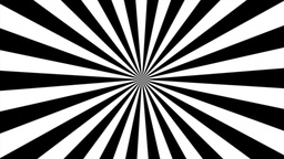 Zigzag Black and White Sunburst, Loop Stock Video Footage