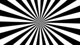 Zigzag Black And White Sunburst, Loop stock footage