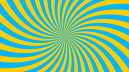 Sunburst, curved lines, blue and yellow Stock Video Footage