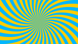Sunburst, curved lines, blue and yellow Animation