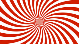 Sunburst, curved lines, red and white Animation