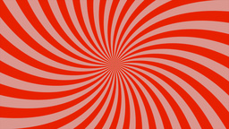 Sunburst, curved lines, red and pink Animation