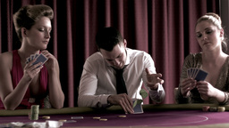 Poker players betting each one in turn Footage