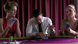 People betting and playing poker Footage