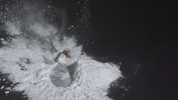Tablet capsule falling into powdered drug Live Action