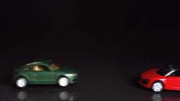 Toy cars crashing Footage