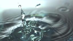 Medicine bottle falling in water Footage