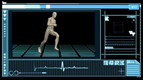 Interface showing digital human running Animation