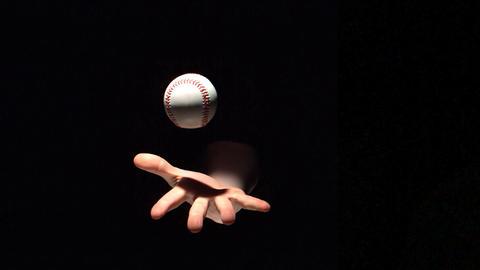 Hand throwing a baseball ball Live Action