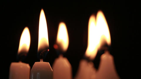 Candles Flickering In The Breeze stock footage