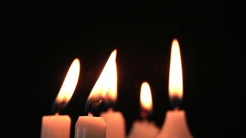 Candles flickering Footage