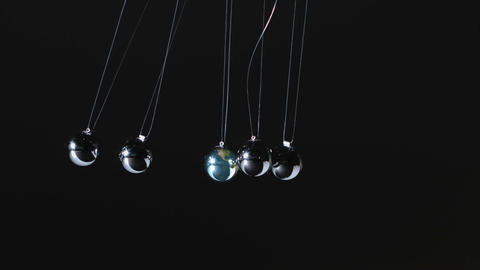 Newtons cradle moving Footage