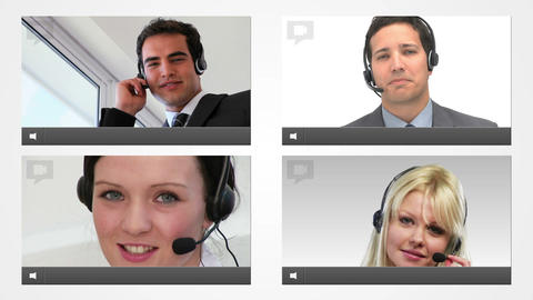 Live chat with customer service agents Animation