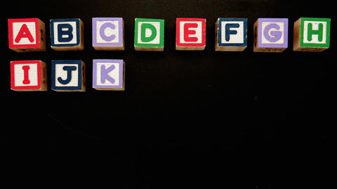 Alphabet appearing in blocks Footage