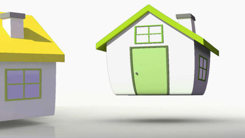 Animation of houses with corresponding BER rating colours Animation