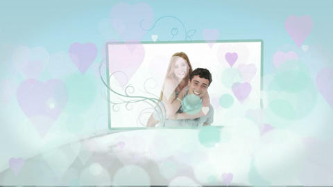 Montage of young couples in love at home Animation