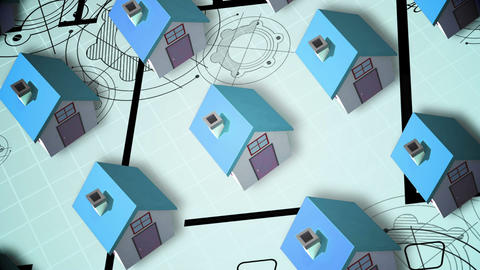 Building Up An Estate Animation stock footage