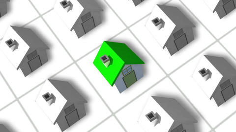 Housing estate building up animation Animation