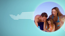 Montage of family clip during summer holidays Animation