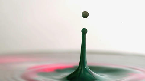 Drop in slow motion splashing Footage