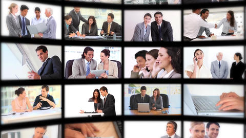 Montage presenting people at work Animation