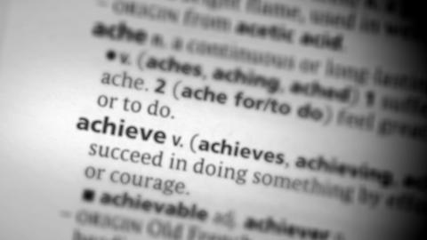 Focus on achieve Footage
