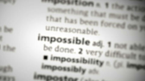 Focus on impossible Footage